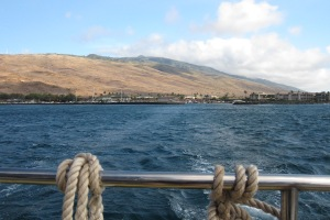 Sailing to Molokini