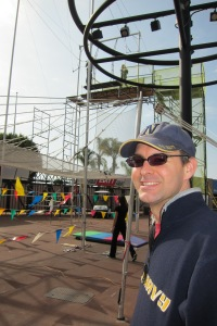 Hubby loves trapezing!